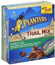 planters trail mix energy mix go paks 5 0 ea nutrition