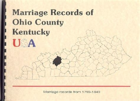 Early Kentucky Marriage Records Ohio County Kentucky Marriage Records