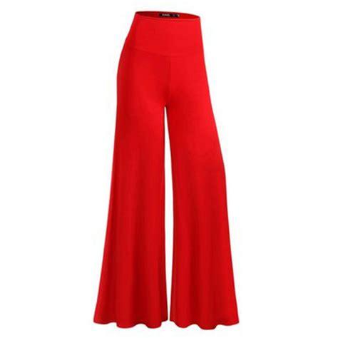 Soft Trouser Pant soft wide leg high elastic waist casual