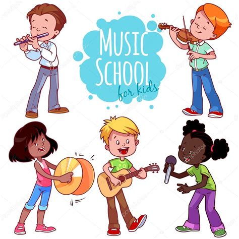 imagenes de niños tocando instrumentos musicales ni 241 os de dibujos animados tocando instrumentos musicales y