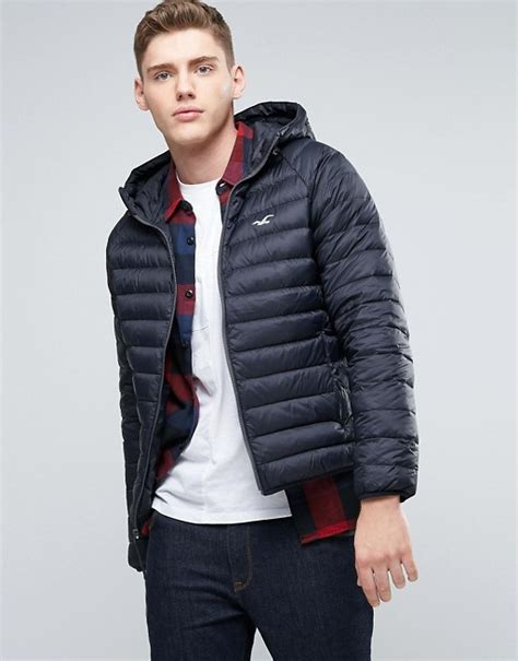Hollister Quilted Jacket by Hollister Hollister All Weather Hooded Jacket In Anthracite