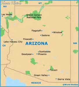 arizona state park map mesa map tourist attractions travel map
