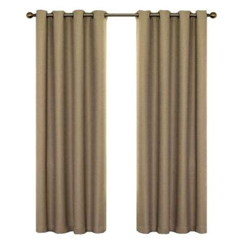 blackout curtains home depot eclipse wyndham blackout mushroom curtain panel 84 in