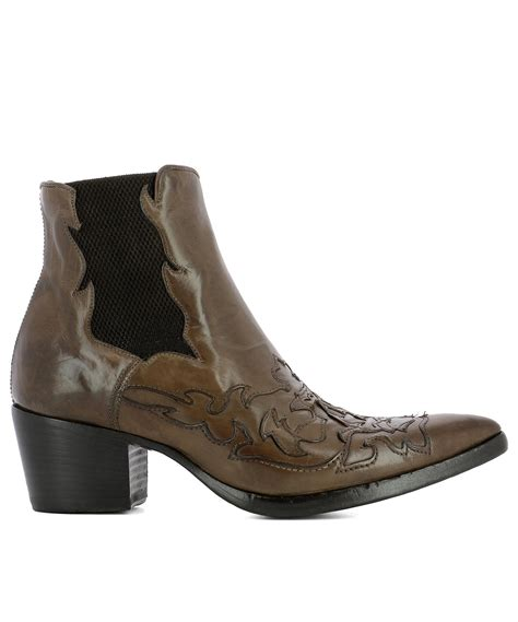 Heeled Ankle Boots alberto fasciani brown leather heeled ankle boots