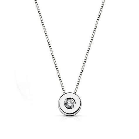 cadenas de oro blanco tiffany colgante oro blanco 18k con cadena diamante brillante 0