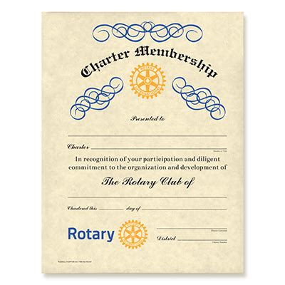 Rotary Membership Card Template by Rotary Certificates