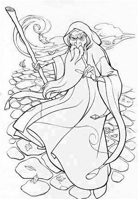 wizards for adults to free coloring pages