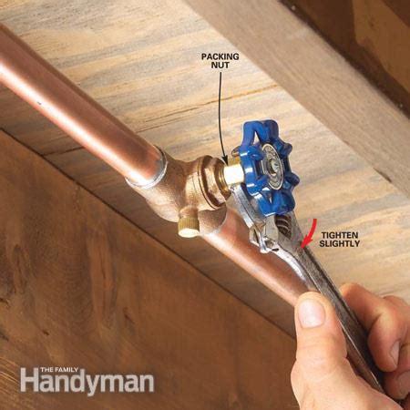 fixing  water shutoff valve leak  family handyman