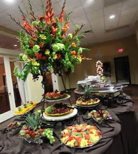 Buffet Table Setting Arrangement Food Buffet Centerpiece Events Rental And Floral Buffet