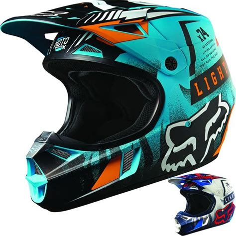motocross helmets youth fox racing v1 vicious youth dirt bike off road motocross