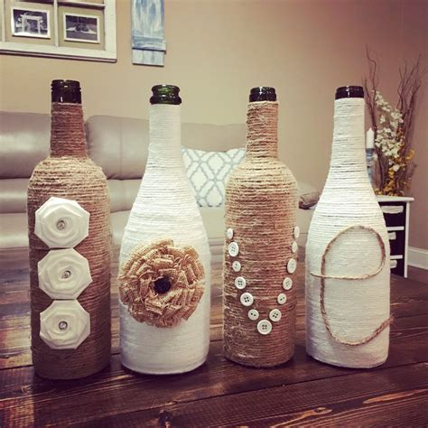 Twine LOVE Wine Bottles, upcycled wine bottles, country