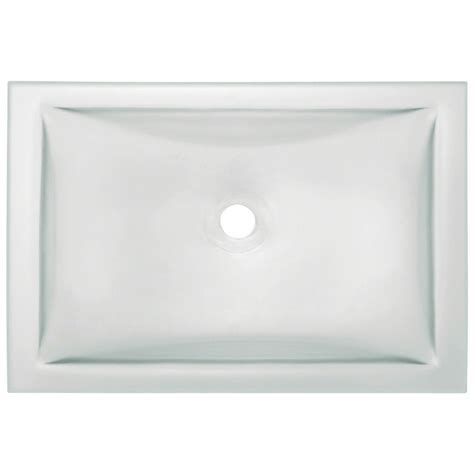 glass undermount bathroom sinks polaris sinks glass vessel in frost p226 the home depot