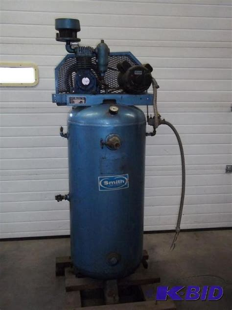 smith air compressor model 143a500 60u 60 gal advanced sales consignment auction 106 k bid