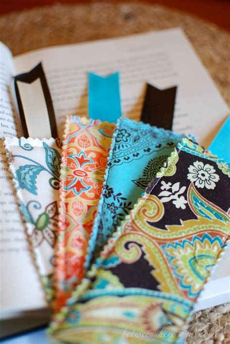 Easy Handmade Bookmarks - between here and home fabric bookmarks