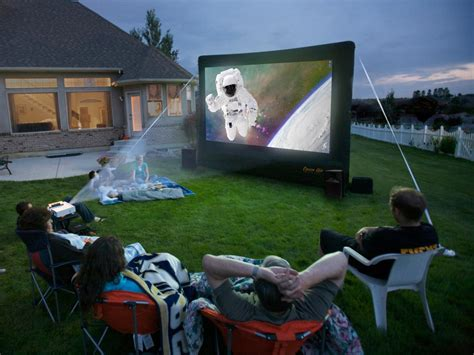 backyard movie theater systems 9 high tech products for outdoor entertaining products