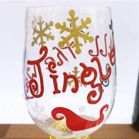 christmas patterned wine glasses custom patterns hand painted christmas tree wine glasses