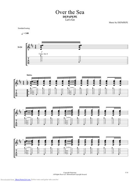 Wedding Bell Depapepe Tab Pdf by The Sea Guitar Pro Tab By Depapepe Musicnoteslib