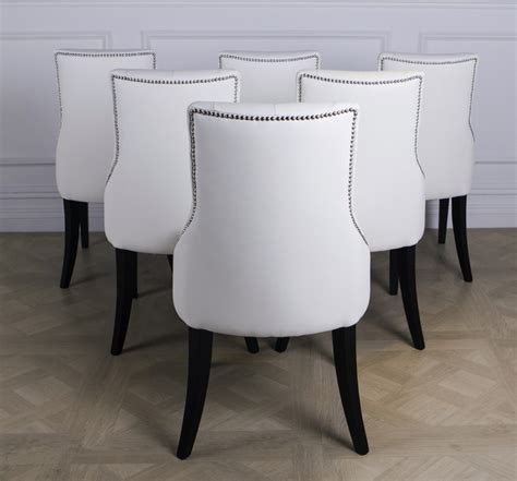 dining chairs white leather winda 7 furniture