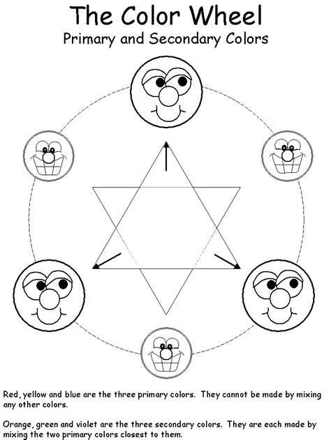 Color Wheel Worksheet by The Color Wheel Worksheet B W