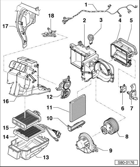 skoda fabia heater blower resistor removal skoda workshop manuals gt fabia mk2 gt heating ventilation air conditioning system gt heating