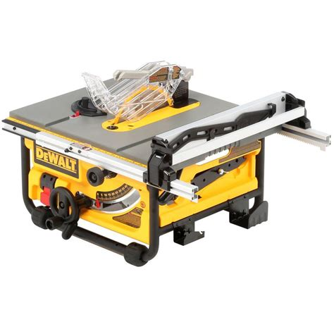 best price on dewalt table saw dewalt 15 amp corded 10 in compact job site table saw