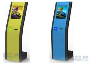 Outdoor Wall Cabinet Slim Kiosk Automatic Ticket Vending Machine For Queue