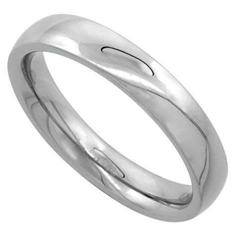 comfort fit ring sizing surgical steel 4mm domed wedding band thumb ring comfort