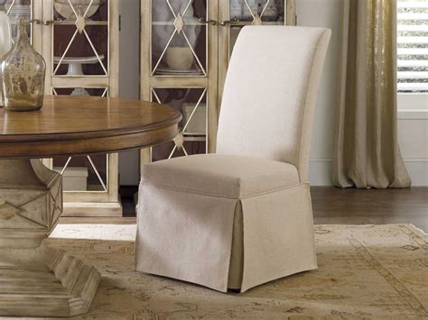 skirted dining room chairs hooker furniture clarice skirted jade white dining side