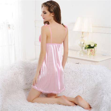 Special Dress Nightwear high quality pink stain dress for babydoll sleepwear nightwear g