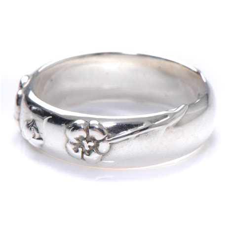 co sterling silver nature ring 8 48038