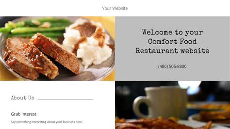 comfort food restaurant comfort food restaurant website templates godaddy