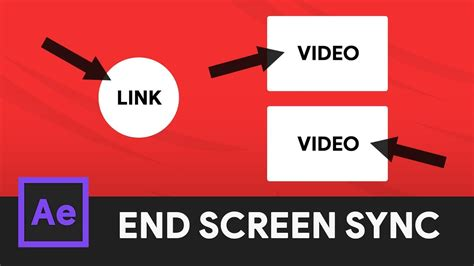 end card template end screen animation syncing after effects