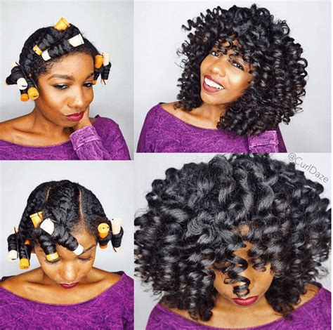 how to do a perm rod set on short relaxed hair pretty perm rod set twist curl