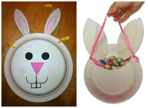 Easter Baskets With Paper Plates - best photos of paper plate easter basket easter basket