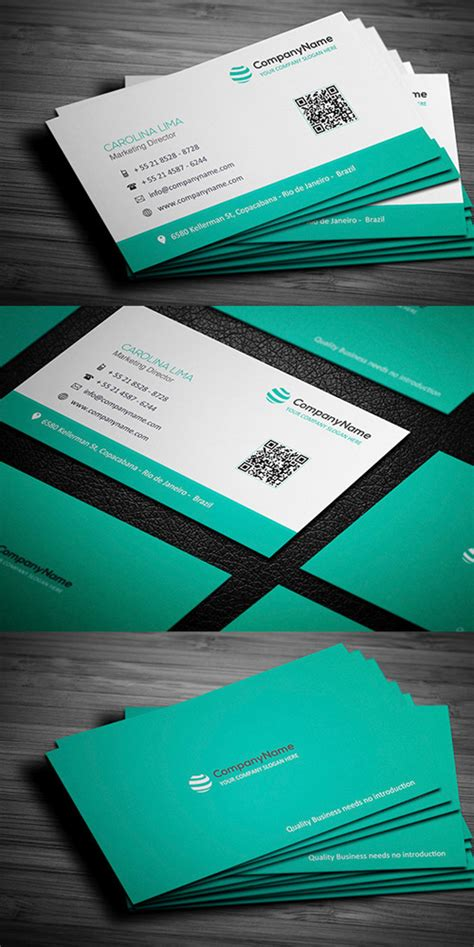 modern tri color business card template for professional 26 modern business cards psd templates print ready