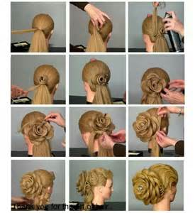 cool step by step hairstyles flower hairstyle tutorial for special events i love cute