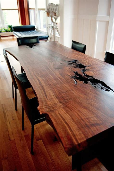 ideas  wood slab table  pinterest wood