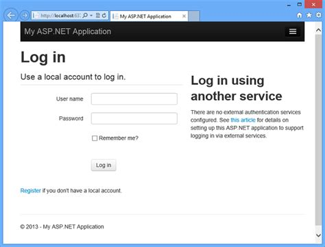 templates for asp net web application creating asp net web projects in visual studio 2013