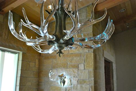 Glass Antler Chandelier Antler Chandelier Eclectic Chandeliers By Lawson Glass