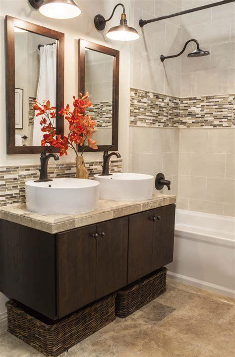 accent tile bathroom on vertical shower tile
