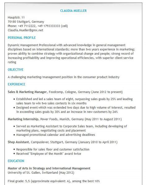 Cv Auf Oder Englisch Bewerben Auf Englisch Tipps Und Muster Zu Cv Resume