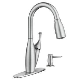moen kitchen faucet reviews kitchen sink for traditional shop moen kendall spot resist stainless 1 handle pull down