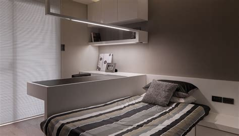 white modern upstairs bedroom