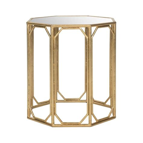 mirror accent tables octagon gold leaf mirror accent table