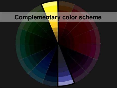 choosing a color scheme complementary color scheme