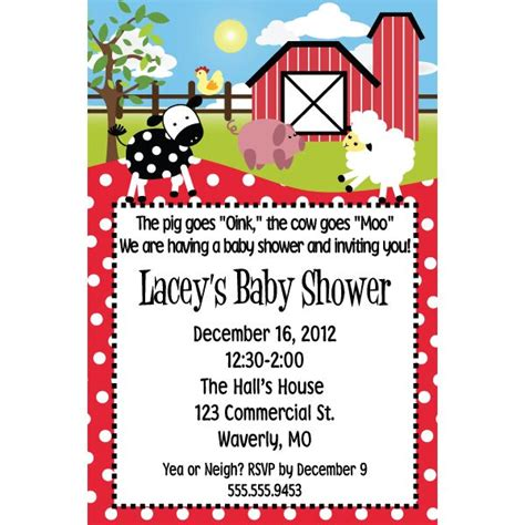 Country Baby Shower Invitations by Country Baby Shower Invitation Baby Shower Ideas
