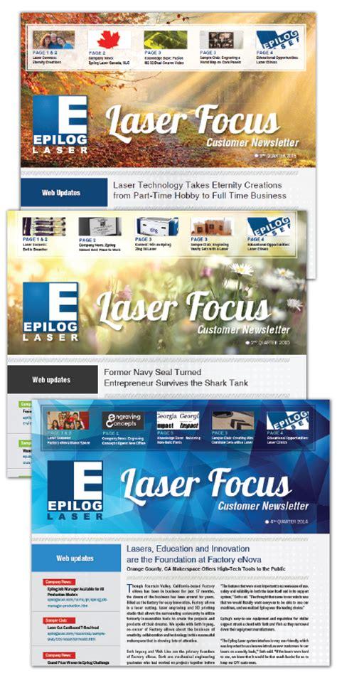 laser focus quarterly newsletter signup