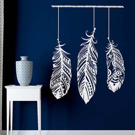 stikers chambre feather wall decal stickers tribal wall boho by fabwalldecals