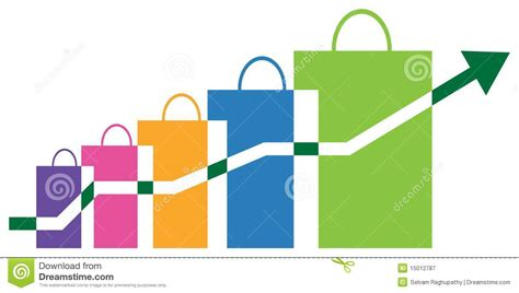sales graph stock vector illustration of financial