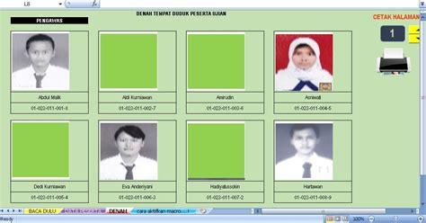 format buku alumni sekolah software denah duduk plus foto aplikasi excel free